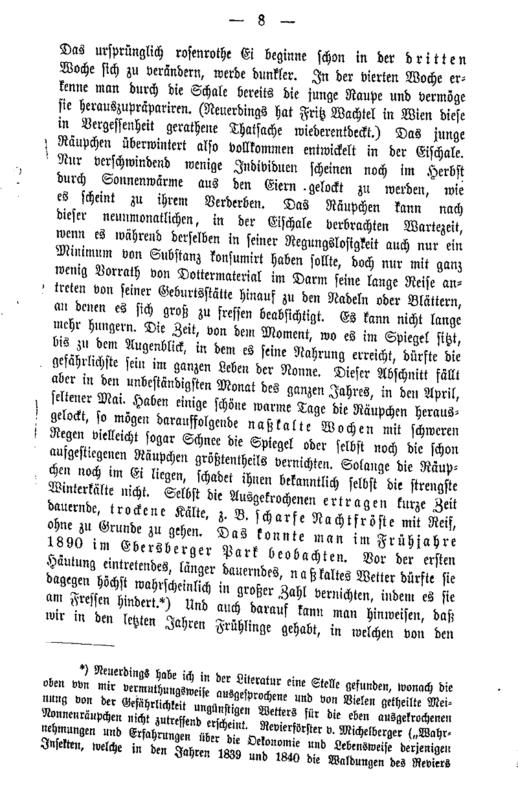 """Ote August Paulyn """"havununnakirjeistä"""" (Die Nonne (Liparis monacha) in den bayerischen Waldungen 1890: in Briefen dargestellt.) vuodelta 1891"""