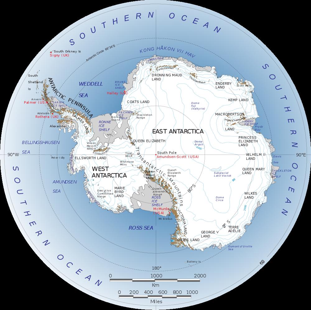 Etelämanner/kartta